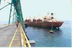 Antamina concentrate being loaded at the Port of Punta Lobitos in Huarmey, Peru.