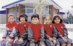 Children attending the R.M. Smith School, which was funded by Barrick Gold near its Pierina mine in Peru