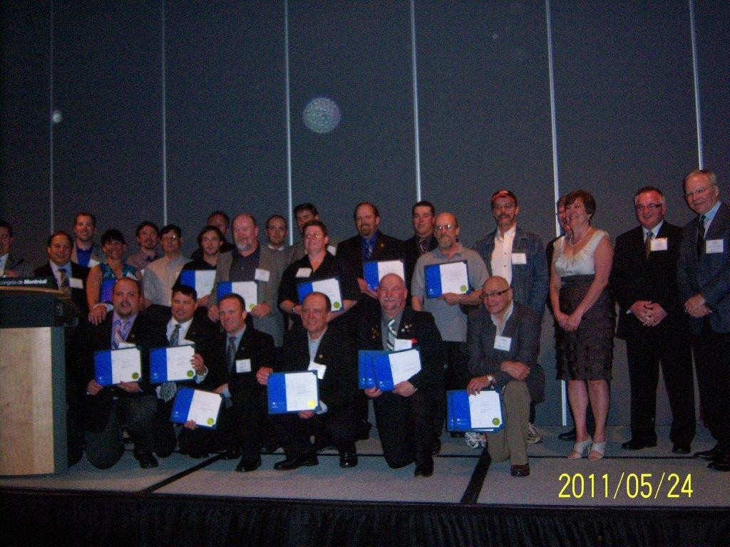 Some of the CMCP graduating class honoured at the CIM.