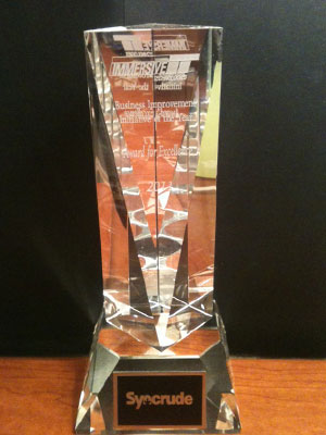 Business Achievement Award presented to Syncrude.
