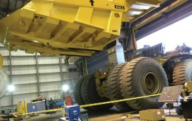 Removal of heavy-duty truck boxes is made safer and easier thanks to a Lifting Eye System that features lifting eyes that are built into the body floor to reduce stress on the sides of the boxes during maintenance and repair.