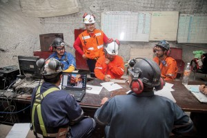 Regular meetings are routine for miners to help ensure that everyone is aware of conditions so that all people are safe.