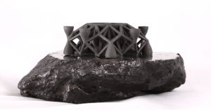 The first ever 3-D image printed from asteroid metals.