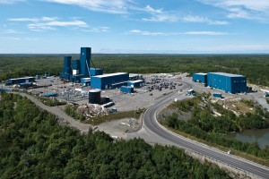 Aerial view of Glencore's Nickel Rim South mine near Sudbury.