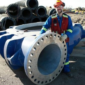 The key to Syncrude's super pump is a larger impeller turning at a slower speed.