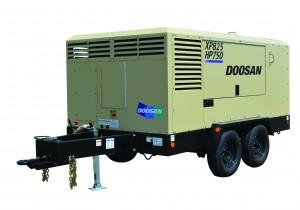 Doosan's new XP825/HP750 dual flow/pressure compressor.