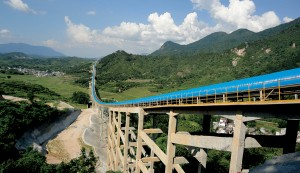 Conveyor in China.