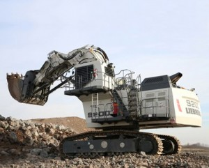 The new Liebherr R 9200 mining excavator.