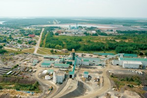 Aerial view of Goldcorp's Red Lake mine where Hard-Line's Teleop System is in place underground.
