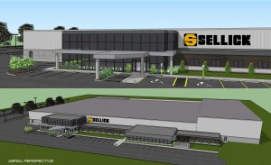 Artist's rendering of Sellick Equipment's new state-of-the-art plant.