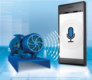 The KSB Sonolyzer app can hear energy saving potential.