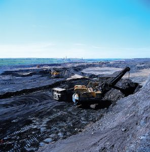 Suncor's' oil sands mining operation.