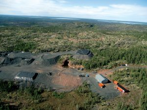 Aerial view of Fortune Minerals' workings at its NICO development in NWT.