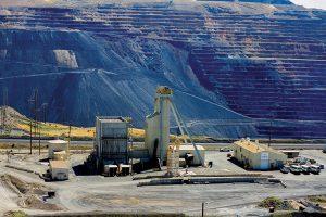 Headframe of the Goldstrike mine.