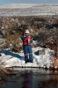 Dan Twitchel of the Turquoise Ridge environmental team.