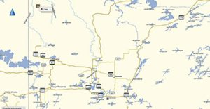 Abitibi's worksite is about 175 km northwest of Val d'Or, QC.