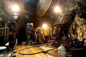 Underground exploration in the former Kiena gold mine.
