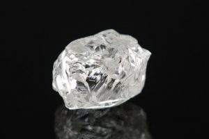 A 2.84-ct white diamond is valued at US$2,640 per carat.
