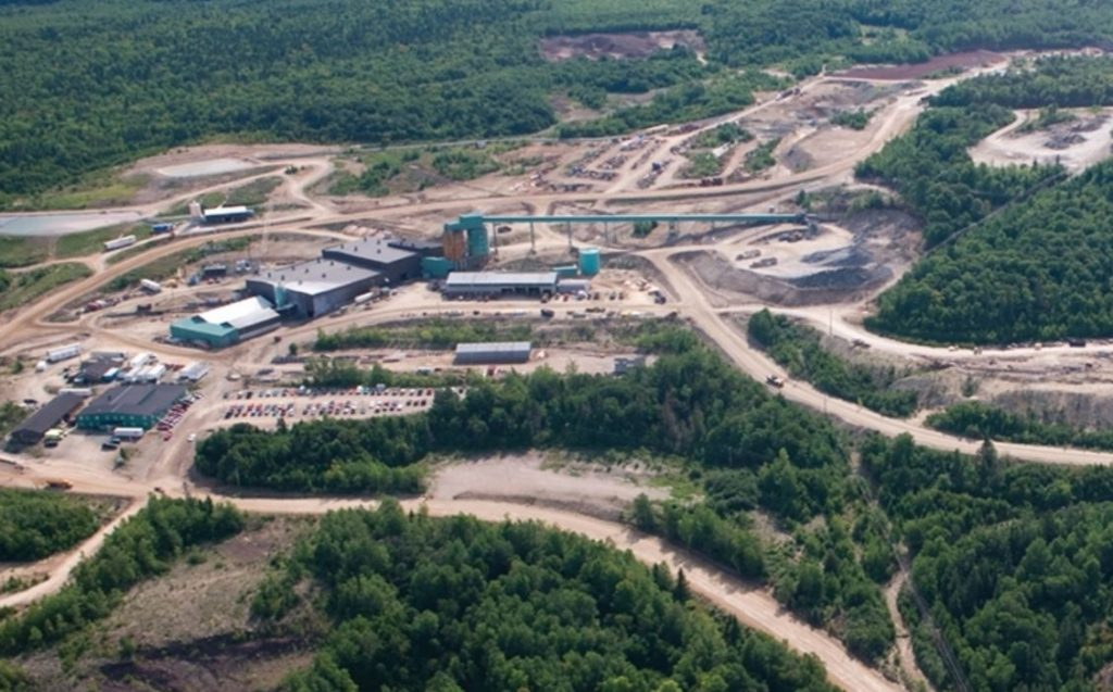 The Caribou mine and mill in the Bathurst camp in New Brunswick. Credit: Trevali Mining