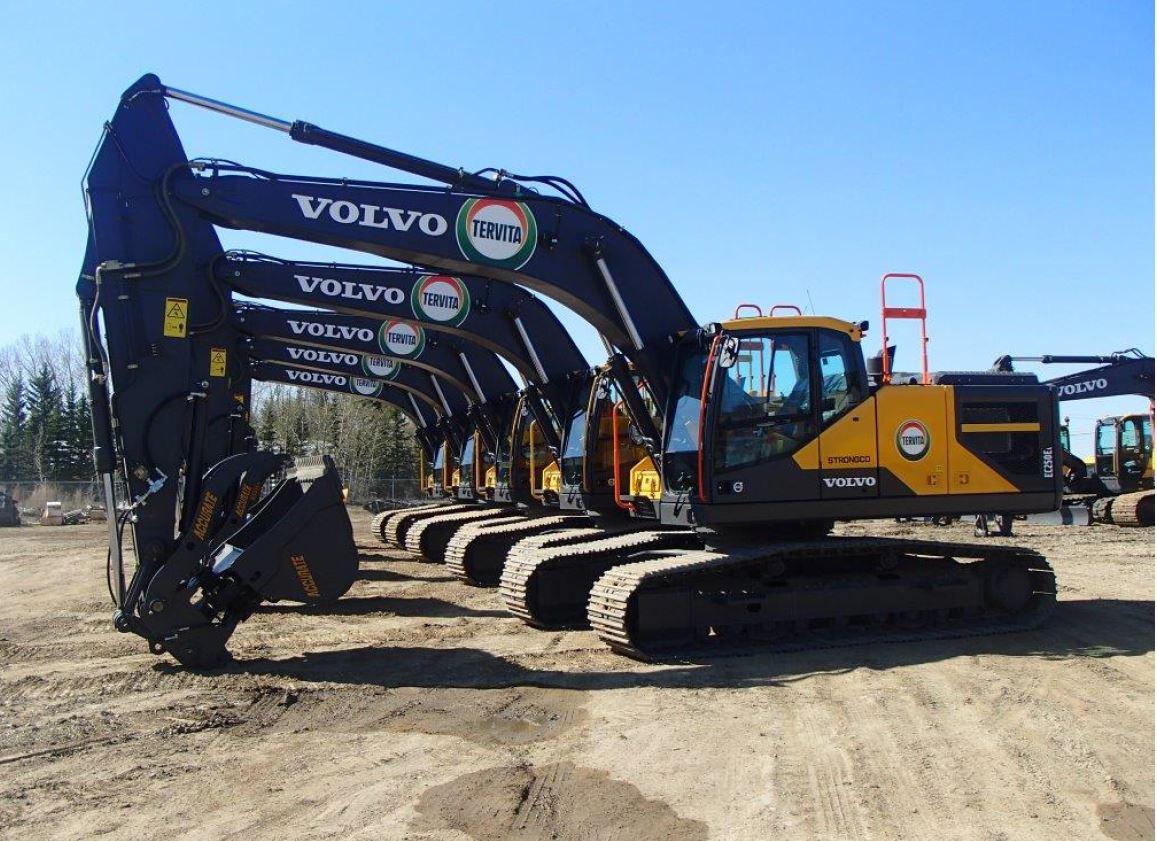 EXCAVATORS: Strongco rents Volvo fleet to Tervita