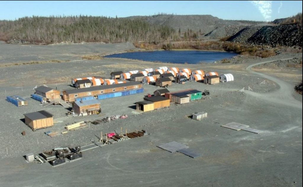 The Colomac exploration camp in the Northwest Territories. (Image: Waychison, Nighthawk Gold Corp.)