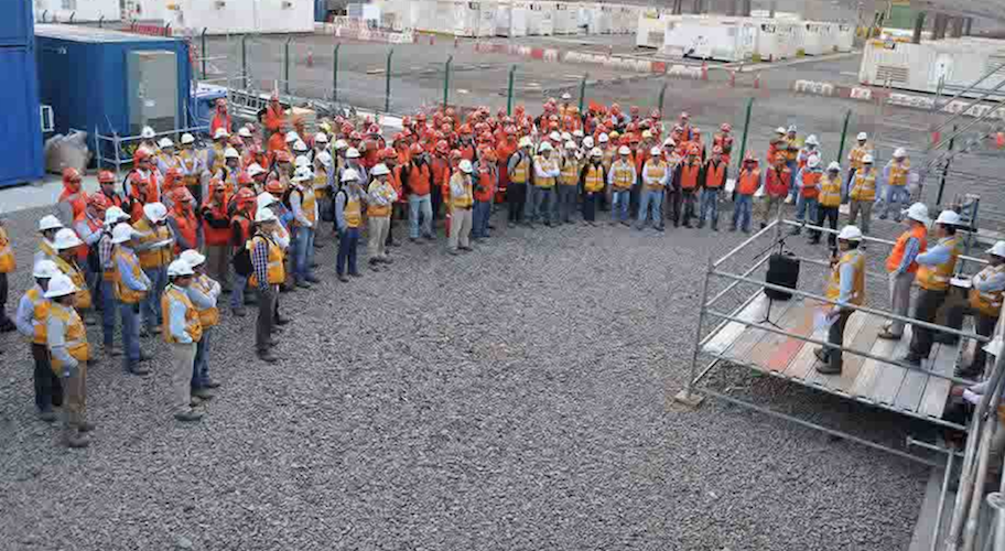 Worker training session at BHP Billiton's desalination plant in Chile, built by Bechtel. Credit: Bechtel