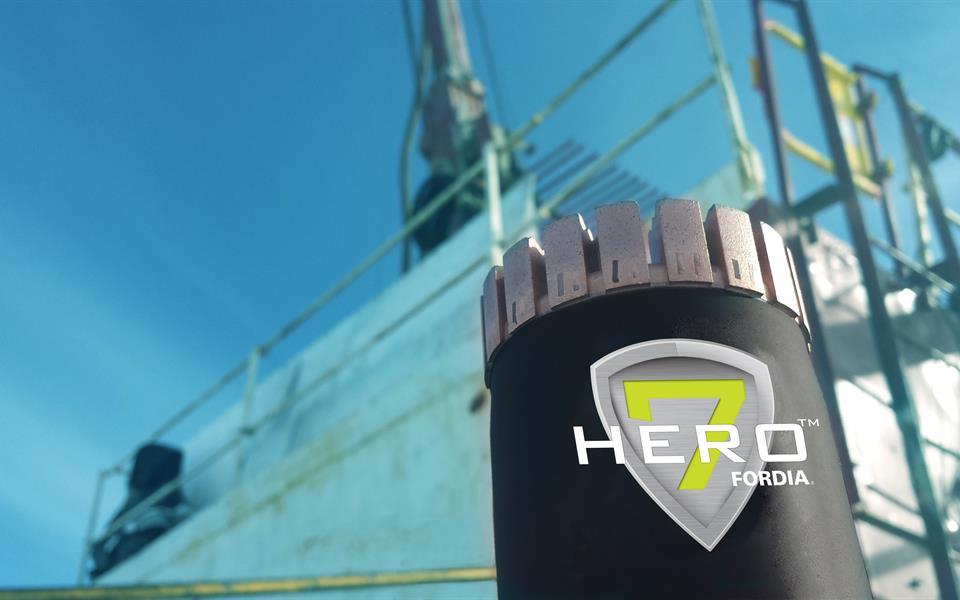 Fordia's Hero 7 diamond drill bit. Credit: Epiroc