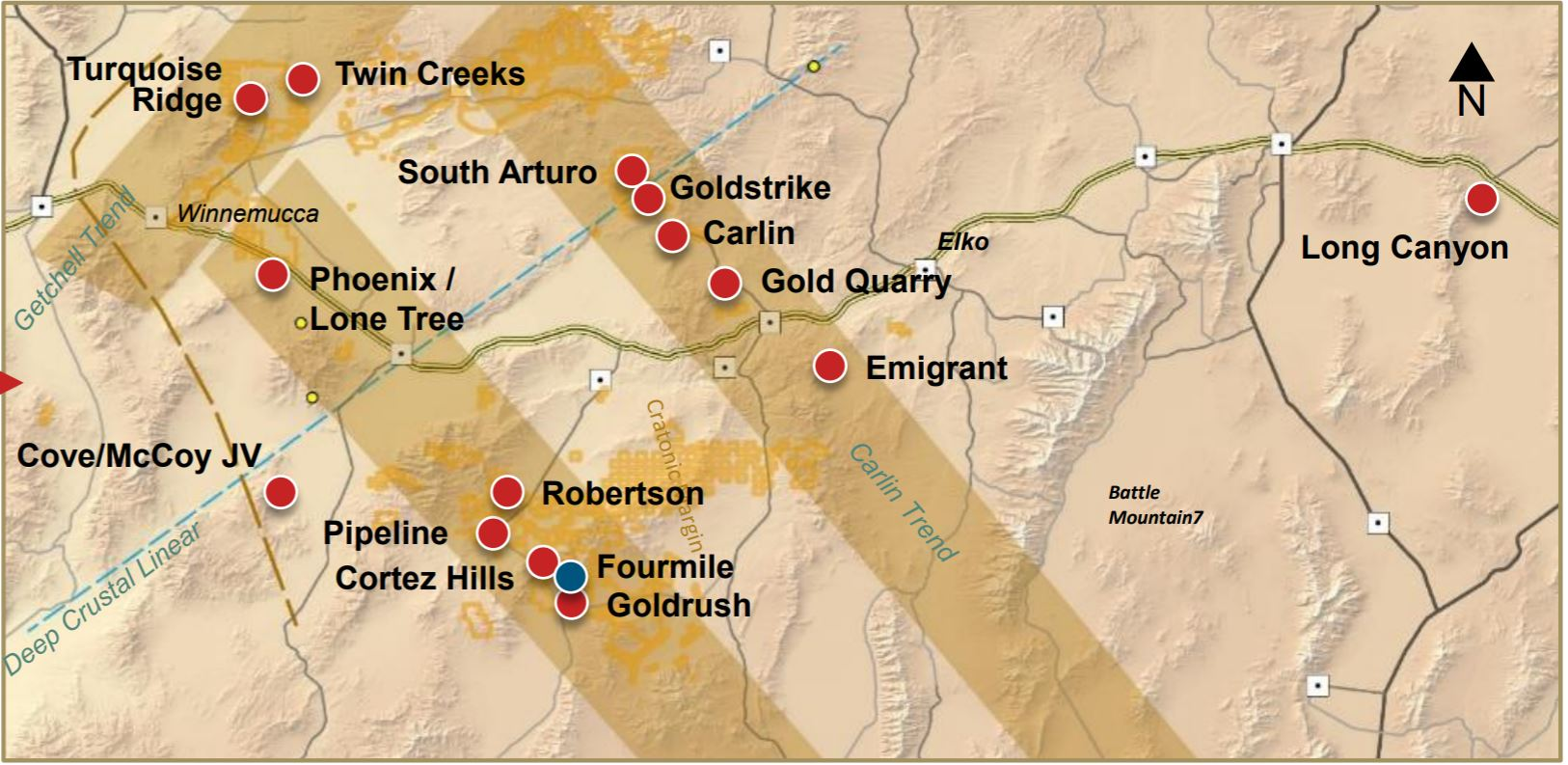 Nevada Gold - map of mines - Canadian Mining JournalCanadian Mining Journal