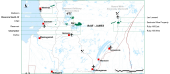 The locations of Eastmain Resources' properties in Quebec. Credit: Eastmain Resources