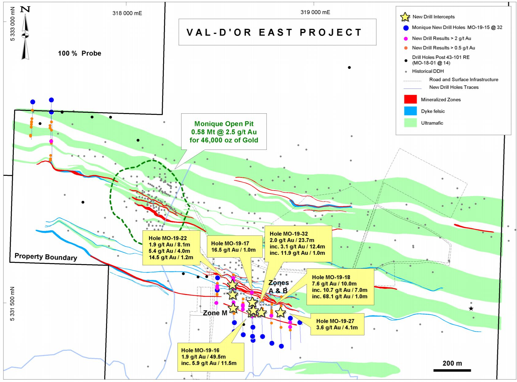 Map Of Canada Grade 9.Gold Probe Finds New High Grade Zone At Monarch S Monique Property