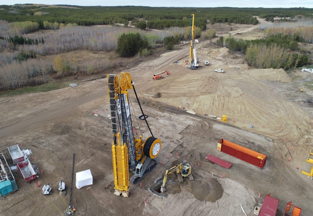 Rio Tinto has completed a 10-hole bulk sample at Star Diamonds' Star-Orion South project in Saskatchewan using a Bauer trench butter rig. Credit: Rio Tinto