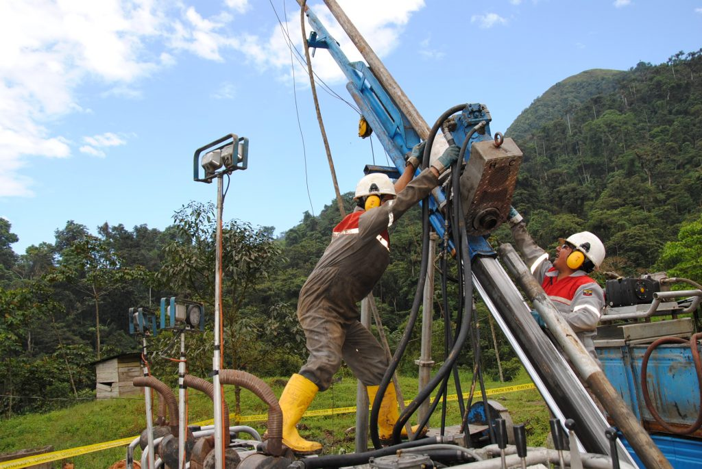 Drilling at Lumina Gold's Cangrejos project in Ecuador. Credit: Lumina Gold