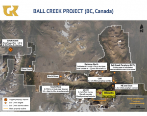 Ball Creek and Hank properties Credit: Golden Ridge