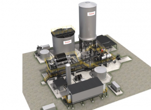 Outotec modular paste backfill plant model Credit: Outotec