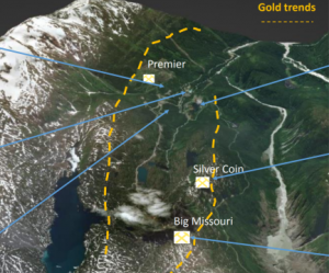 Premier project and deposits Credit: Ascot Resources