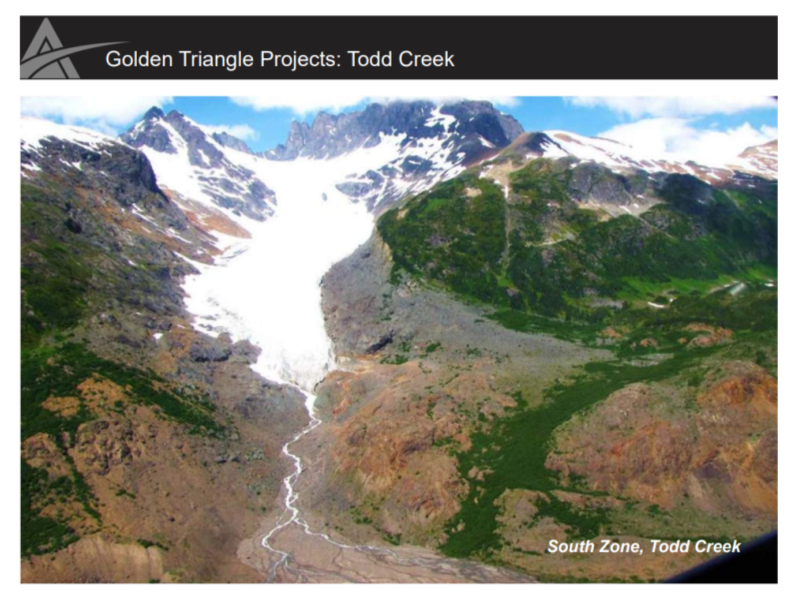 South Zone at the Todd Creek project Credit: ArcWest Exploration
