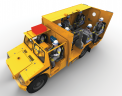 The MRV 9000 mine rescue vehicle is the result of a collaboration between several companies, including safety technology company Dräger. Credit: Dräger