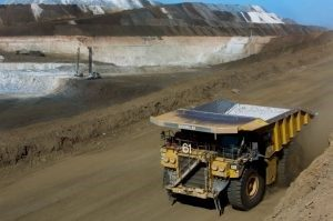 A Cat truck in the Tasiast gold mine in Mauritania Credit: Kinross Gold