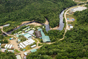 The exploration camp at Lundin's Fruta del Norte project Credit: Lundin Gold