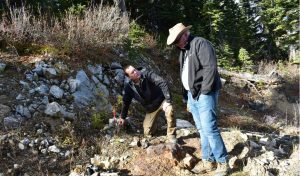 Sun Metals CEO Steve Robertson with technical advisor Peter Megaw at the Stardust project in B.C. Credit: Sun Metals