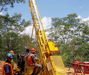 Drilling at Candelones Extension Credit: Unigold
