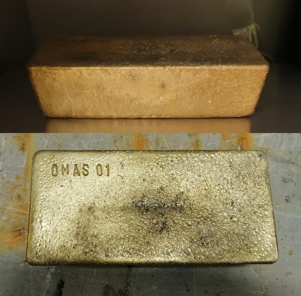 First gold bar from Oksut Credit: Centerra