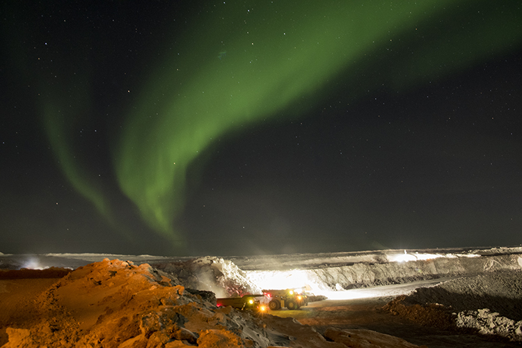 The Gahcho Kue diamond mine in the Northwest Territories. Credit: Mountain Province Diamonds