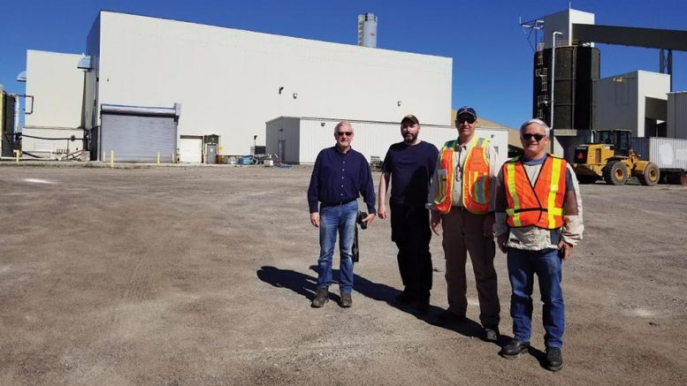 Rockcliff Metals team outside of the Bucko mill Credit: Rockcliff