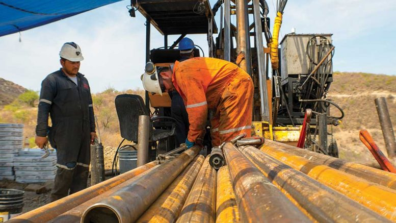 Drilling at SilverCrest Metals' Las Chispas silver-gold project in Mexico last year. Credit: SilverCrest Metals