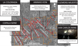 Veins and operating mine at Panuco Credit: Vizsla