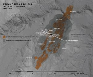 Eskay Creek drill hole plan Credit: Skeena
