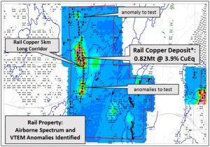 Geophysical anomalies at Rail Credit: Rockcliff