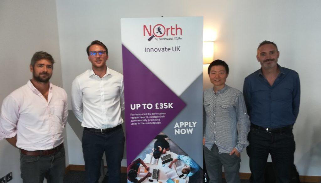 Jim Williams, Robert Pell (Founder), Xiaoyu Yan (UoE Academic Advisor), Nick Russill Credit: University of Exeter