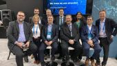 A panel organized by Maestro Digital Mines at this year's PDAC was moderated by TVO journalist Steve Paiken (middle, back row). Credit: Maestro Digital Mines